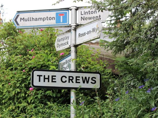 Signpost at the Crews