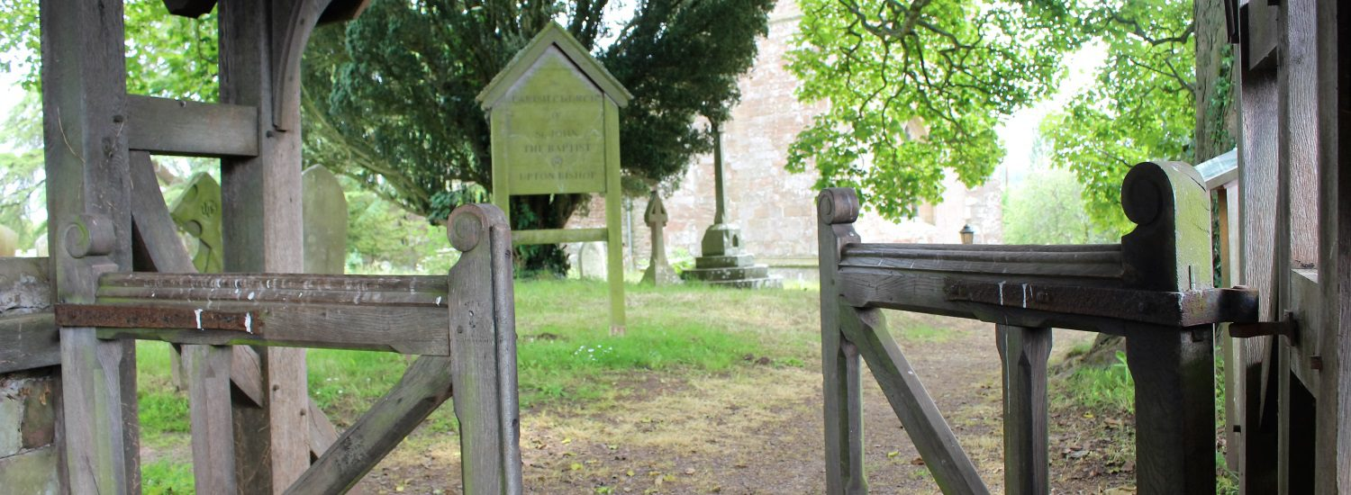 The gate to the churchyard open