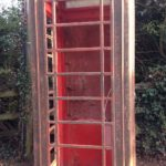 Red phonebox under renovation