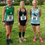 Three women in running gear