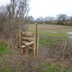 New wooden stile to field