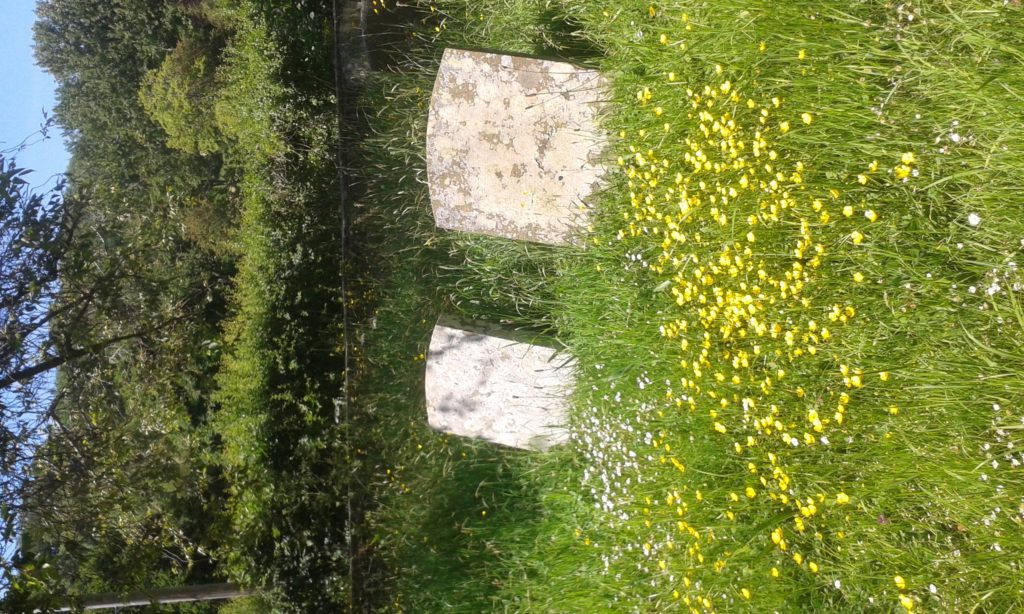 Ttwo tombstones in the church yard