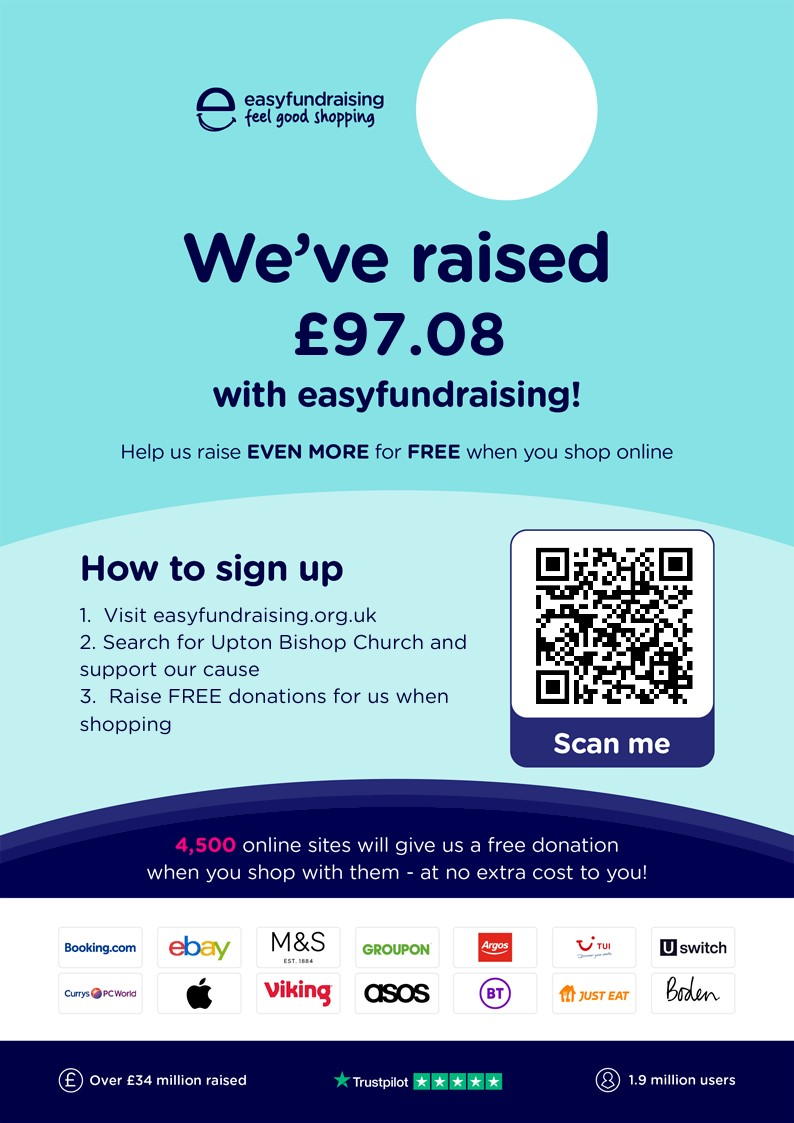 poster advertising how to use easyfundraising